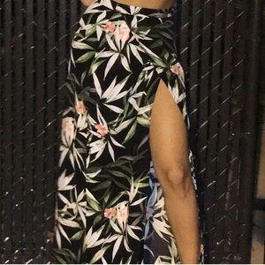 Floral Floor-length Skirt
